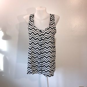 Sleeveless Chevron Top Size Small  NWT Summer